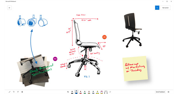 Microsoft releases collaborative Whiteboard inking app for Windows 10