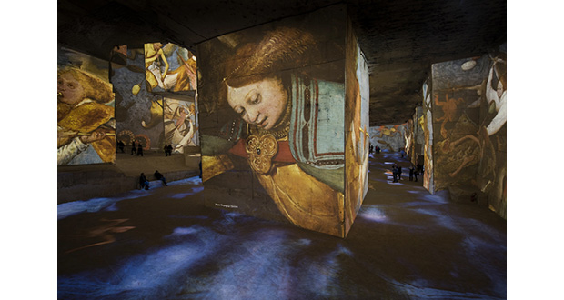 immersive picasso exhibition powered by barco projectors