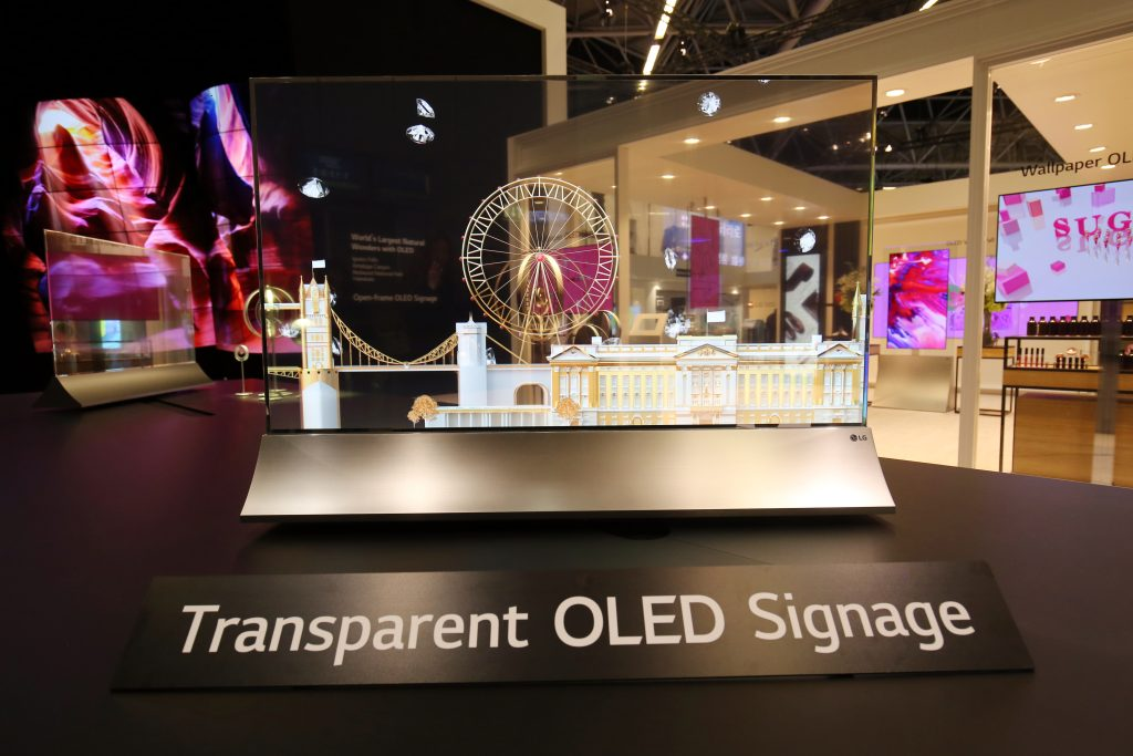 LG shows Transparent OLED amid a diverse range at ISE
