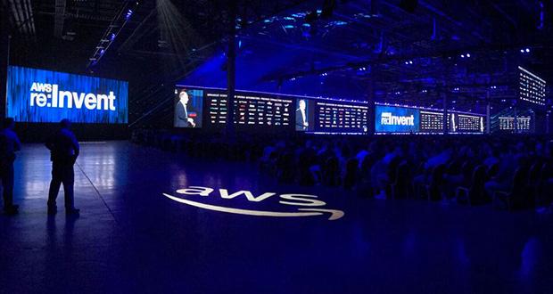Football-field sized LED display amazes Amazon conference