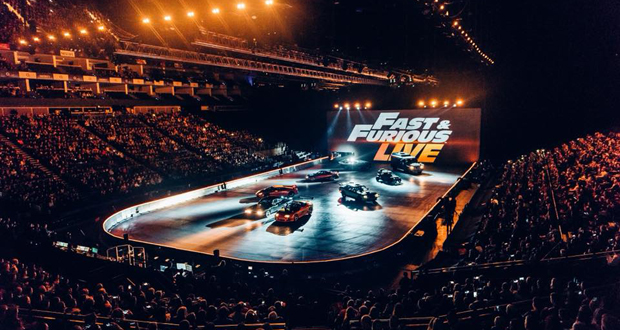 Projection Mapping Accentuates The Action For Fast Furious Live