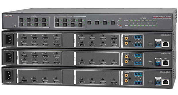 Extron's 18 Gbps HDMI matrix switchers for 4K/60 signals