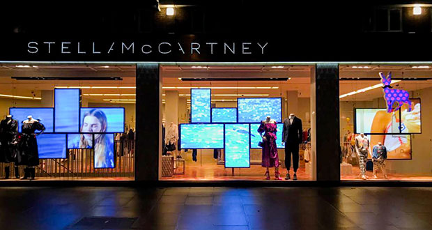 Stella McCartney adopts LG digital signage mosaics