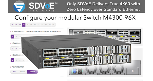 Netgear ships SDVoE-ready switch for AV-over-IP