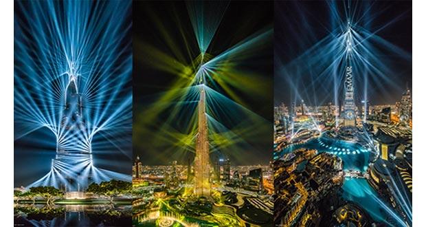 Burj khalifa sets guinness lighting installation record