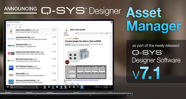 Qsc Introduces Q Sys Designer Asset Manager