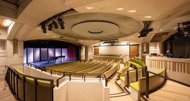 Acoustics upgrade at Oxford college auditorium