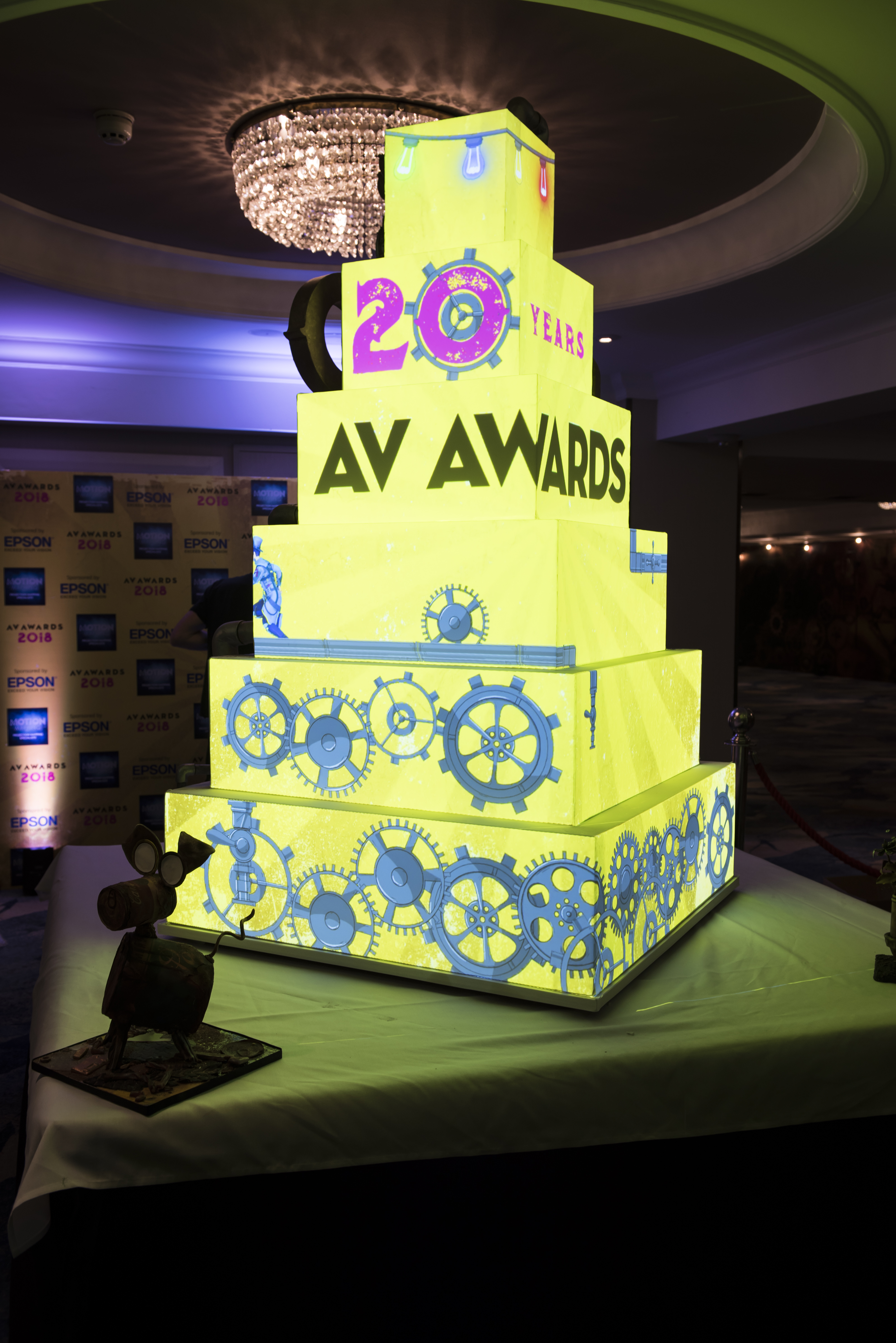 The magic behind the AV Awards projection mapped cake