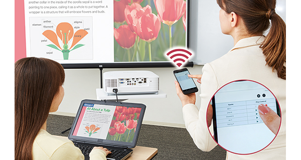Casio's educational projectors with one-click connectivity