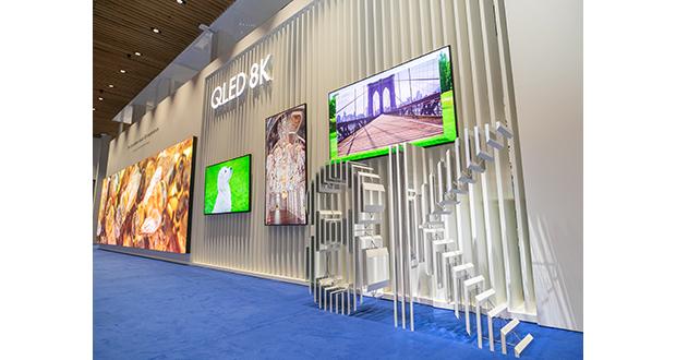 Samsung introduces QLED 8K digital signage at ISE