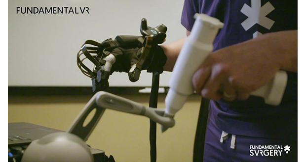 VR surgery simulation demo incorporates haptic glove