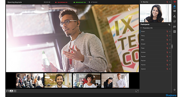Bluejeans events brings interactive video livestreaming to the digital workplace