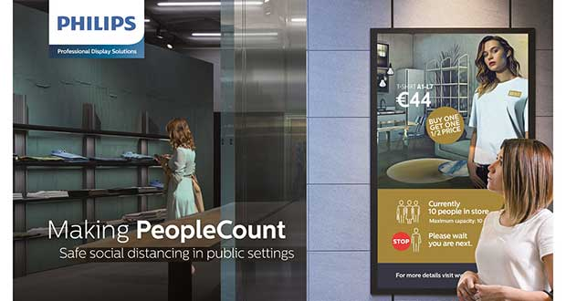 Retailers to reopen with people-counting signage